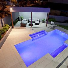 Modern Pool by Blueprint Designs