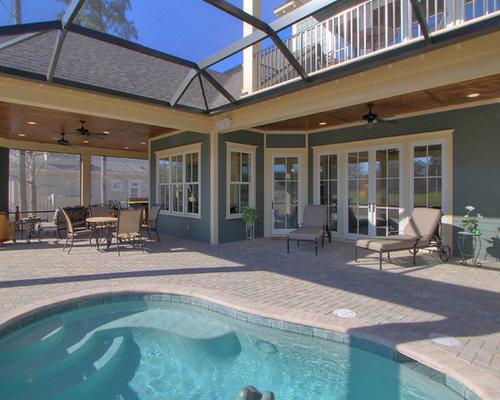 Courtyard Kidney Shaped Pool Design Ideas Renovations