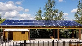 Custom Home Solar Project - Poolside