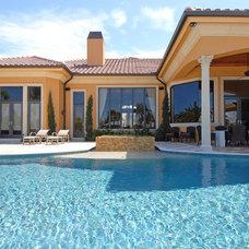 Mediterranean Pool by Dreamstar Custom Homes