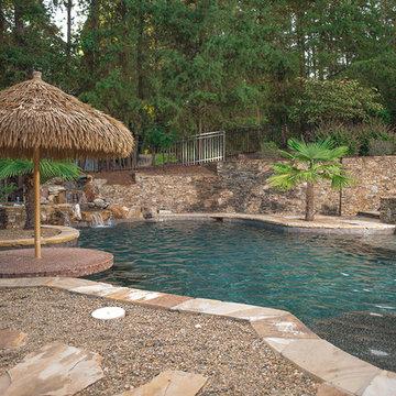 Custom Luxury Pool with Swim-Up Bar