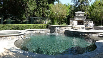 Custom Pool and Spa with Outdoor Fireplace in Coto De Caza