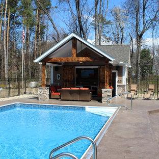 Custom Pool-house and Pool
