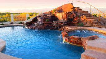 Custom Pools, Stream, Water Feature