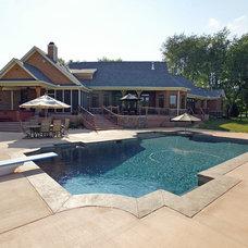 Rustic Pool by Robert Lucke Homes