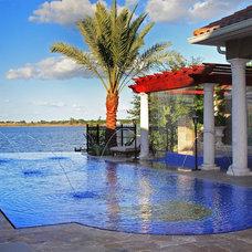 Mediterranean Pool by Dave Brewer Homes
