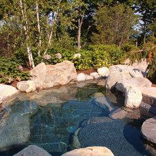 Traditional Pool by Common Ground Landscapes