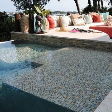 Custom Stainless Steel Pool with Infinity Edge