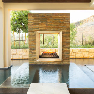 Custom Swimming Pool at Orchard Hill Model Home in Irvine
