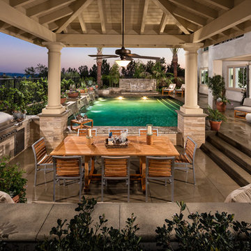 Custom Toll Brother Model Home Pools