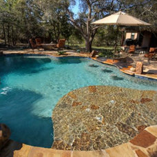 Traditional Pool by Texas Pools and Patios