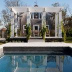 Contemporary La Jolla - landscape architecture, courtyard, pool, italian cypress