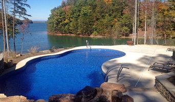 Cypress-shaped pool with custom sun-ledge shelf