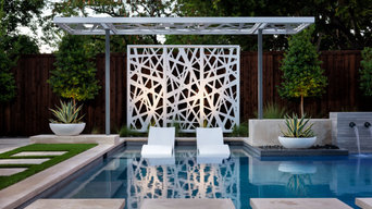 Dallas Linear Pool with Modern Panels