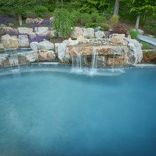 Traditional Pool by Fine Decks Inc