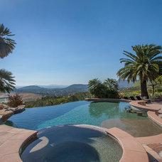 Mediterranean Pool by Wylie Architecture Planning Interior Design