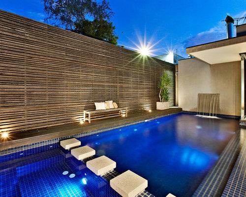 Hot Tub   Mid Sized Contemporary Backyard Rectangular Hot Tub Idea In  Melbourne