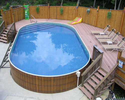 Above ground pools home design ideas pictures remodel - Above ground pool decor ...