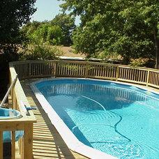 Modern Pool by Phoenix Builders Of Tulsa