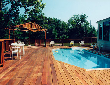 decks with pools.