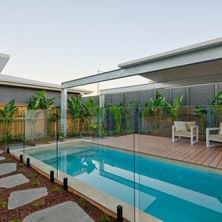 Contemporary pool in Sunshine Coast.