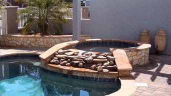 Decorative Stones Complete the Spa