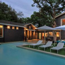 Modern Pool by Cornerstone Architects