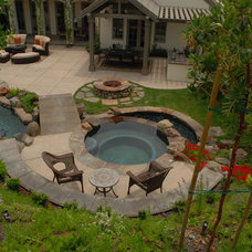 Eclectic Pool by Green Scene Landscaping & Pools