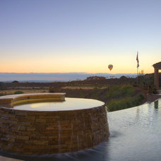 Traditional Pool by McCullough Design Development Inc