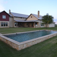 Farmhouse Pool by Mike Farley Pool Designer