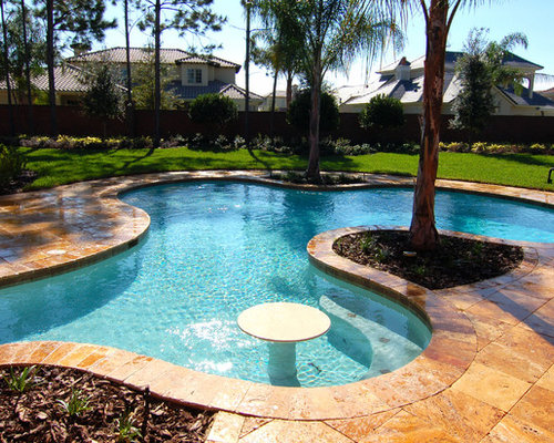 Houzz tropical tampa pool design ideas remodel pictures for Pool design tampa