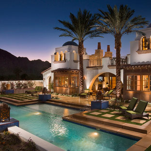 This is an example of a traditional pool in Los Angeles.