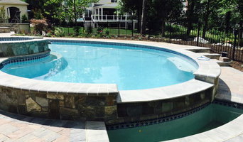 Design and build ashburn swimming pool and landscape