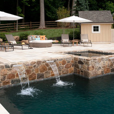 Traditional Pool by WPL Interior Design