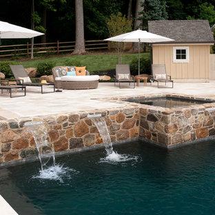 Elegant rectangular pool fountain photo in Philadelphia