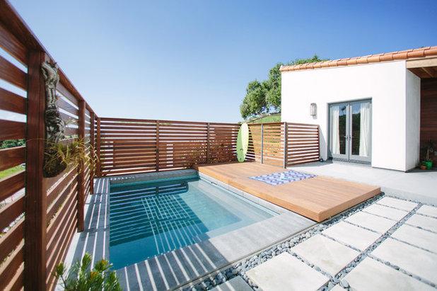 Modern Pools by Purlieu Landscapes Design + Build