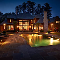 Traditional Pool by dustin.peck.photography.inc