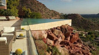 Desrt oasis negative edge pool we built for a home in Paradise Valley