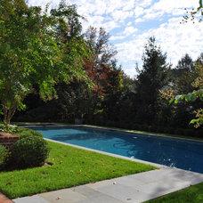 Traditional Pool by Texada Landscaping, Inc.
