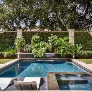 Imagen de piscina tradicional renovada rectangular