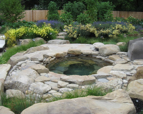 Rock hot tub home design ideas pictures remodel and decor for Rustic pools