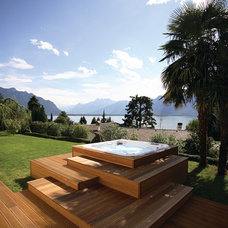 Contemporary Deck by Dimension One Spas