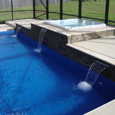 Contemporary Pool by Dimension One Spas