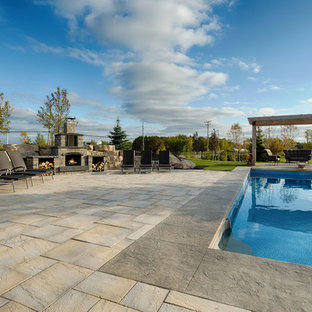 Dimensional Flagstone around pool