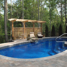 Traditional Pool by Custom Pools and Landscapes of Richmond