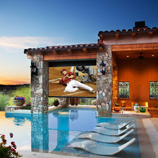 Mediterranean Pool by Beringer Fine Homes