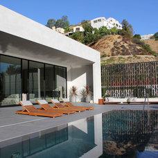 Modern Pool by Foundation Landscape Design