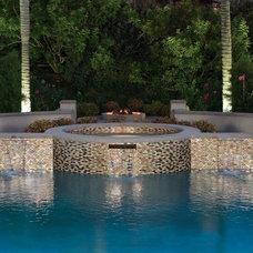 Modern Pool by Oceanside Glasstile