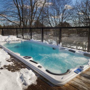 Don Mills Swim Spa in the Snow