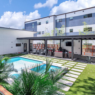 Downtown Tampa, Contemporary Industrial Style Family Home